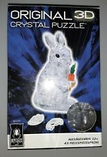 BePuzzled Original 3D Crystal Jigsaw Puzzle -Crystal Rabbit with Carrot