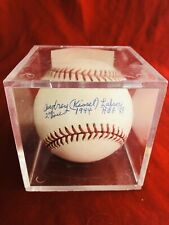 Audrey Kissel Lafser Signed MLB Ball with Ball Cube-Authentic?
