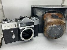 Zenit E 35mm SLR Film Camera Body Only and Leather Case