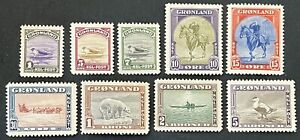 Greenland 1945. Set Of 9 Stamps (MNH)