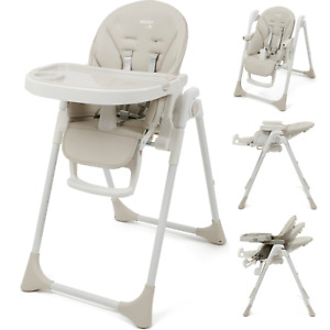 Babylo Nosh High Chair Adjustable + Folding with 7 Height Positions From Birth