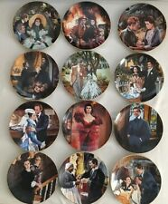 Gone with the Wind Collectors plates in Round Frames-whole collection