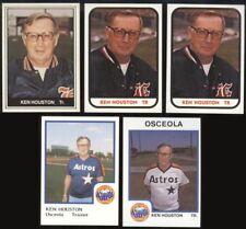1981-87 Ken Houston Card Lot (5) - Sarnia Ontario, Lakeland FL, AI 62