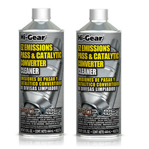 2 x Hi-Gear EZ Emissions Pass & Catalytic Converter Cleaner 444 ML Made in USA