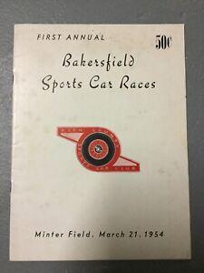 1954 Bakersfield Sports Car Races Program Minter Field 1st Annual