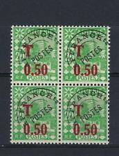 Algeria 1944 Sc# J27 Mosque French colony surcharged block 4 MNH