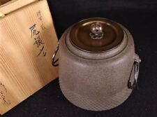 Antique JAPANESE Tea Ceremony CHAGAMA iron kettle Vintage Teapot from JAPAN a239