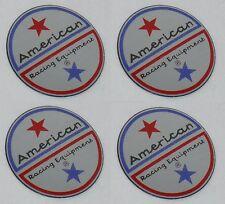 4 Set American Racing Vintage Wheel Rim Center Cap Sticker Logo 15 Dia 36mm