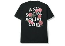 Womens Mens Unisex Antisocial Social Club ASSC Black Smells Bad T-Shirt (Size S)