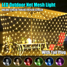 Christmas LED Net Mesh Fairy String Light In/Outdoor Garden Window Curtain Lamp