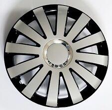 "Set di 4 16 ""rifiniture ruota, Cerchioni, Tappi Per Adattarsi Audi A1, A2, A3 + regalo gratuito #D"