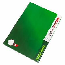 Hardback A4 Maths Book 128 Page 5mm Square Grid Paper Notebook School Notepad