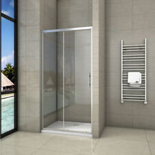 Aica Sliding Shower Enclosure Door and Tray Waste Walk In Tempered Glass Screen