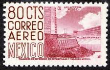 MEXICO 1953 80 cts UNIVERSITY STADIUM wmk HORIZONTAL SC#C213 SCARCE MNH CV$10