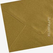 50 x A6 C6 Gold Metallic Premium 100gsm Invitation Envelopes