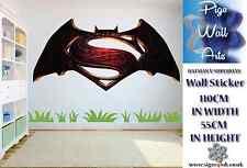 BATMAN V SUPERMAN wall sticker children's bedroom wall art mural sticker large.