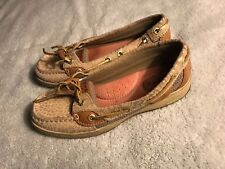 Sperry Top Sider Womens Angelfish Natural Leopard Shoes 5M SC8