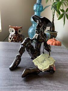 R. Nischli Sculpture Don Quixote Of La Mancha  Brass Like Finish #B-731 Signed