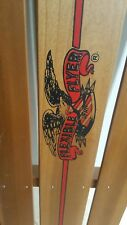 """Vintage Flexible Flyer III 3 Snow Sled Wood Red Metal Christmas Decoration 46"""""""