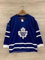 Vintage Toronto Maple Leafs CCM Maska NHL Hockey Jersey Mens Size Medium Blue