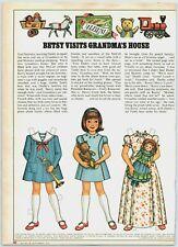 1976 McCalls Paper Dolls Betsy McCall GrandMa's House Print Ad