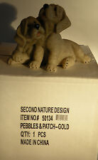 """Quarry Critters Dogs """"PEBBLES & PATCH - Gold"""" (Product # 50134)  3 1/4"""" Tall"""