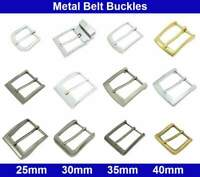 Metal Belt Buckles - 25, 30, 35, 40mm - Antique Silver, Brass, Chrome Plated