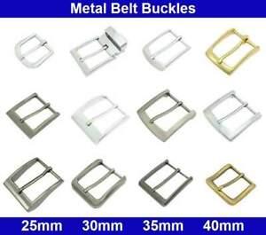 Metal Belt Buckles - 20, 25, 30, 35, 40mm - Antique Silver, Brass, Chrome Plated