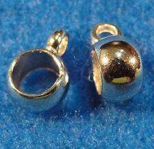 50Pcs. Tibetan Silver Acrylic Pendant or Charm BAILS Connectors Findings BA96