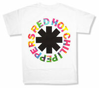 Red Hot Chili Peppers Overdye Asterisk Logo White T Shirt New Official Rhcp