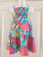 BNWT M&S Multi Print Tiered Strappy Sun Summer Cotton Dress 18-24 Months