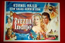 STAR OF INDIA ARTHUR LUBIN CORNEL WILDE JEAN WALLACE 1960' EXYU MOVIE POSTER
