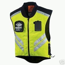 ICON MOTORCYCLE VEST REFLECTIVE YELLOW SUPER SIZE XL-3X