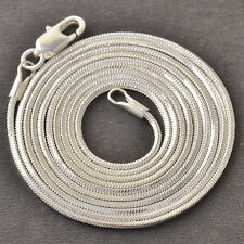 80cm Fashion Womens White Gold Plated Snake Chain Necklace Fit Pendant