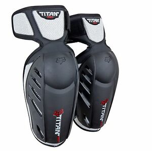New Fox Racing Adult Black Titan Race Elbow Guards For MX & Off-Road Riding
