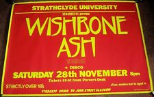 WISHBONE ASH CONCERT POSTER SATURDAY 28th NOVEMBER 1981 STRATHCLYDE UNIVERSITY