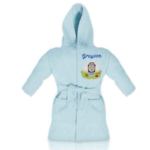 Buzz Lightyear (Toy Story) Personalised Fleece Bathrobe - With embroidered name