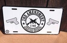 Original Homeland Secure 2nd Amendment Guns Novelty License Plate Bar Wall Decor