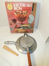 Krumkake Scandinavian Aluminum Cookie Iron w/ Rolling Cone Nordic Ware w/ Box