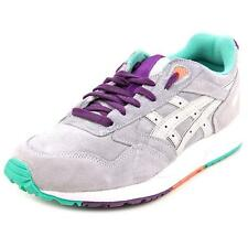 MENS SZ 9 ASICS GEL SAGA GREY SUEDE LEATHER ATHLETIC SHOES H5E1L walking running