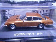Monica 560 v8 Coupe 1974 Gold Marron met IXO ALTAYA s-prix 1:43