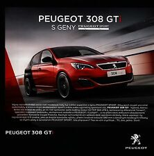 Peugeot 308 GTi 04 / 2016 catalogue brochure tcheque czech rare