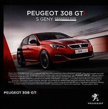 Peugeot 308 GTi 04 / 2016 catalogue brochure tcheque czech rare