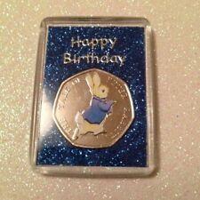 Coloré Peter Rabbit 50P Anniversaire Cadeau aimant de réfrigérateur Bleu