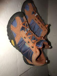 Keen Shoe Size 5 Hiking Athletic Sneaker Orange Suede/purple Fabric. Used