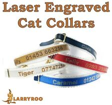 More details for personalised cat kitten collar id tag, laser engraved, uk made, ancol quality