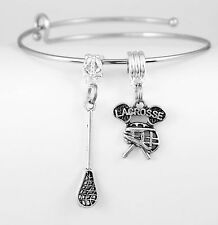 Lacrosse bracelet  with lacrosse banner Lacrosse charm Best jewelry gift Lacross