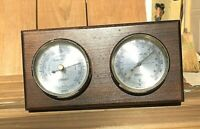 VTG Springfield Weather Station Temperature Thermometer Barometer Gauge USA MADE