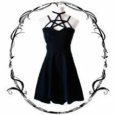 Original Design Pentacle Bandage Slip Dress Women Gothic Punk Sleeveless Dress