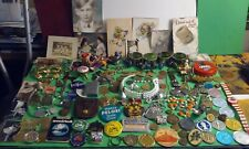 Junk Drawer Lot 100+ Vintage-Mod Trinkets Tokens Photos Jewelry + Other Various